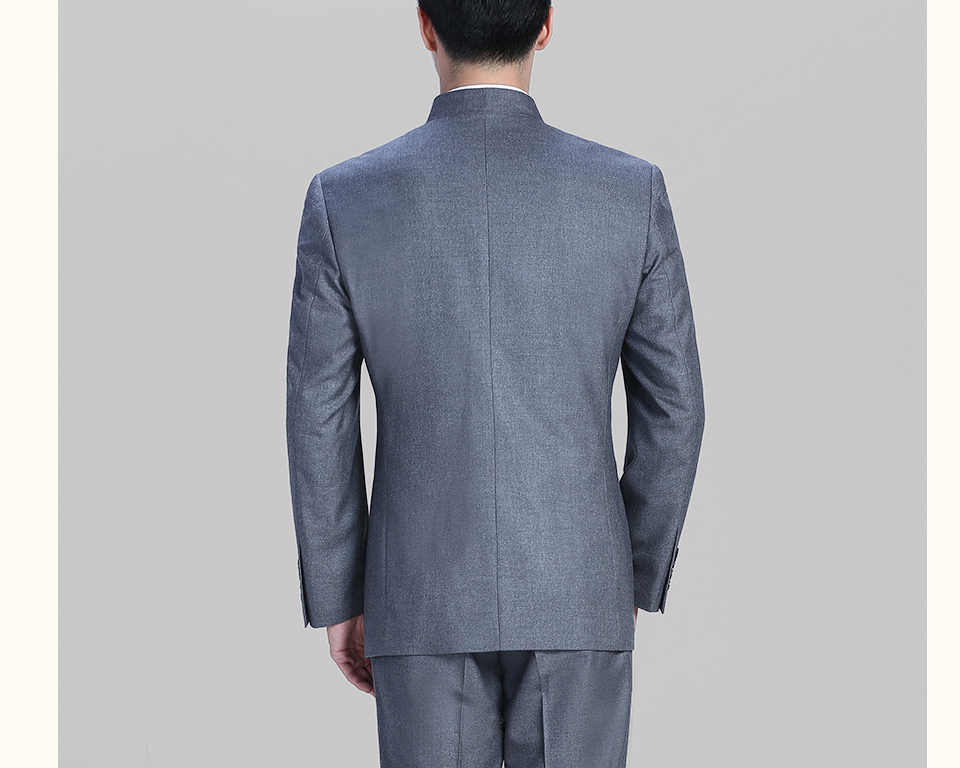 中灰色灰色休闲中华立领FX10