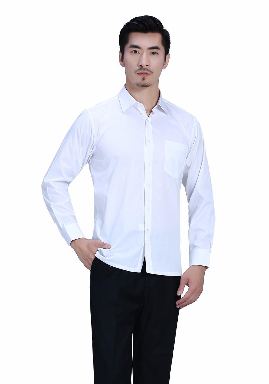 衬衫白色男白色正常款衬衫长袖衬衫